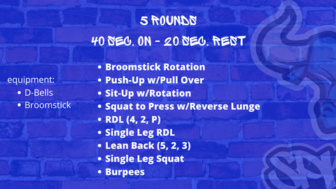 5 Rounds - Total Body Circuit - Spiked Nutrition