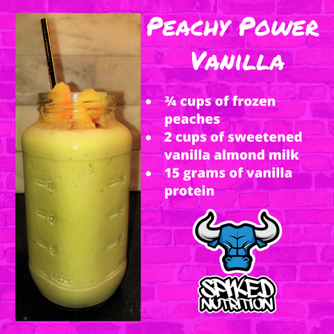 Peachy Power Vanillia Protein Smoothie