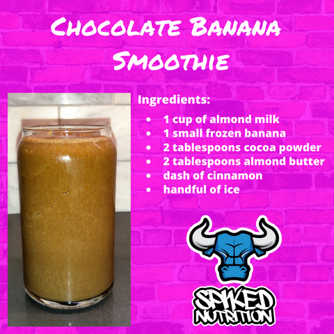 Chocolate Banana Protein smoothie recipe facts Spiked Nutrition
