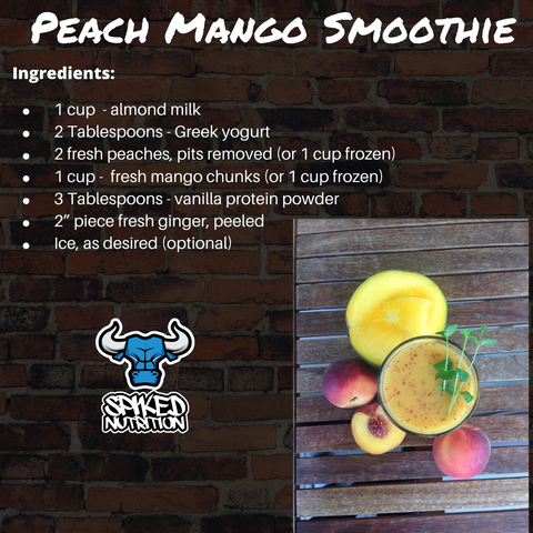 Peach Mango Smoothie Spiked Nutrition Facts