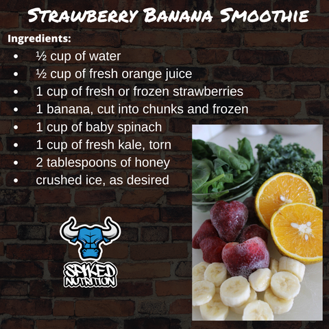 strawberry banana smoothie spiked nutrition