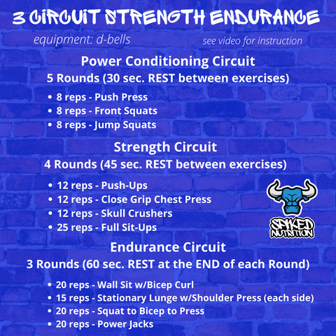 Strength Endurance Circuit At home workout Spiked Nutrition