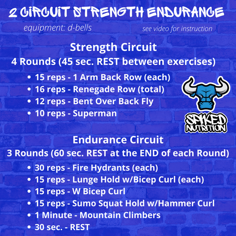 Strength Endurance Pre-Workout Spiked Nutrition Supplement