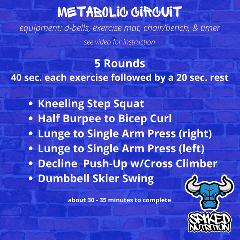 30 Minute Metabolic Strength Workout by Spiked Nutrition
