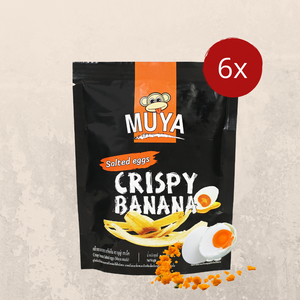 Muya Crispy Banana Fruit Chips Salted Egg Flavour - Muya Snack