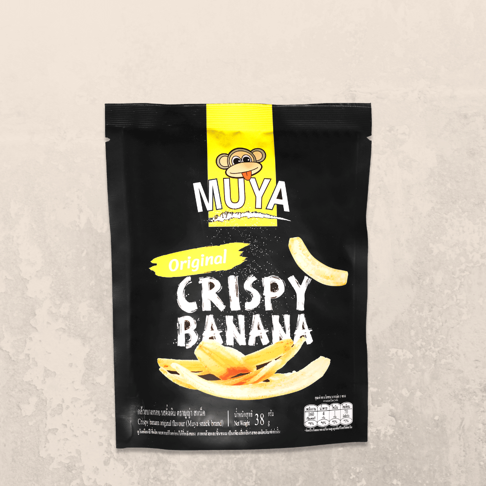 Muya Crispy Banana Fruit Chips Original Flavour - Muya Snack