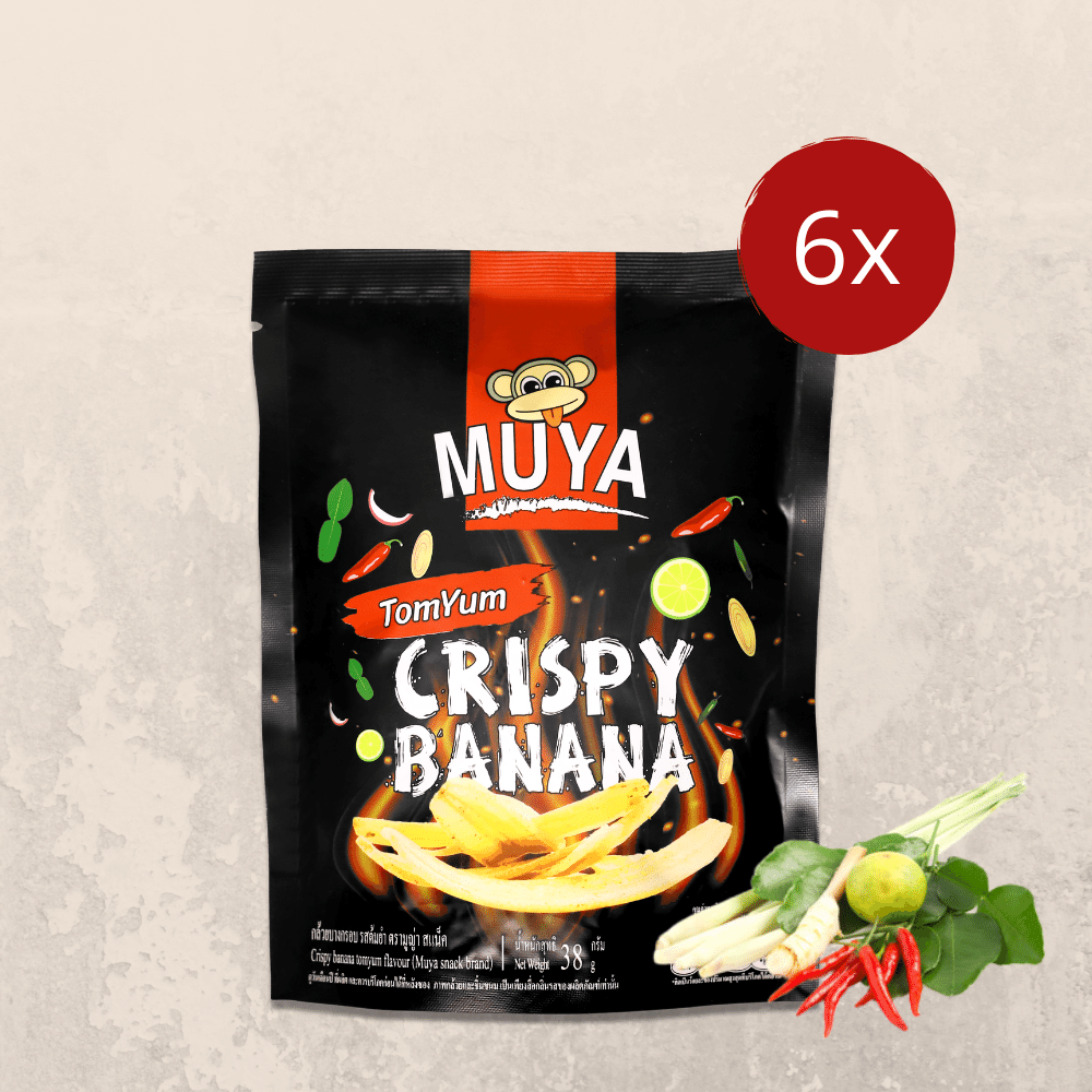 Muya Crispy Banana Fruit Chips Tom Yum Flavour - Muya Snack