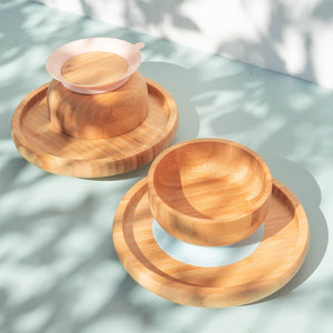 Bamboo Suction Bowl & Plate Set- save 15%!
