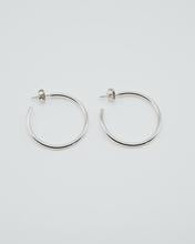 Locally Sourced Sterling Silver Hoops made by Local Philadelphia Jeweler by ren!