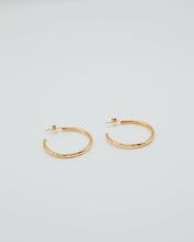 Locally Sourced Sterling Gold Hoops made by Local Philadelphia Jeweler by ren!
