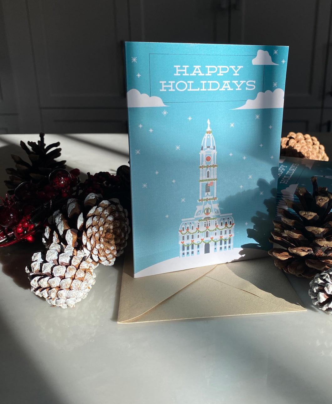 Happy Holidays City Hall Card