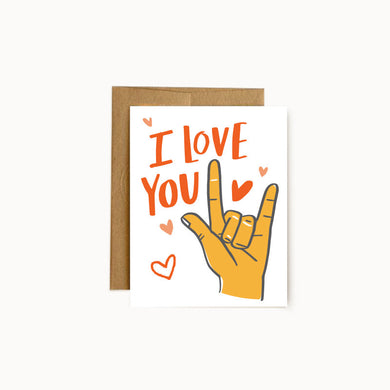 Alisa Wismer I Love You in American Sign Language Greeting Card