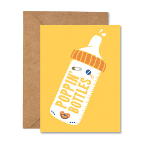 Poppin Baby Bottles Greeting Card