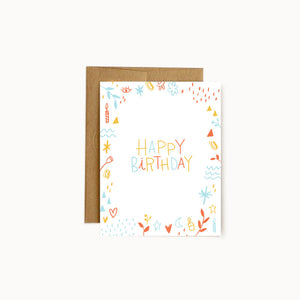 Alisa Wismer Birthday Doodle Greeting Card