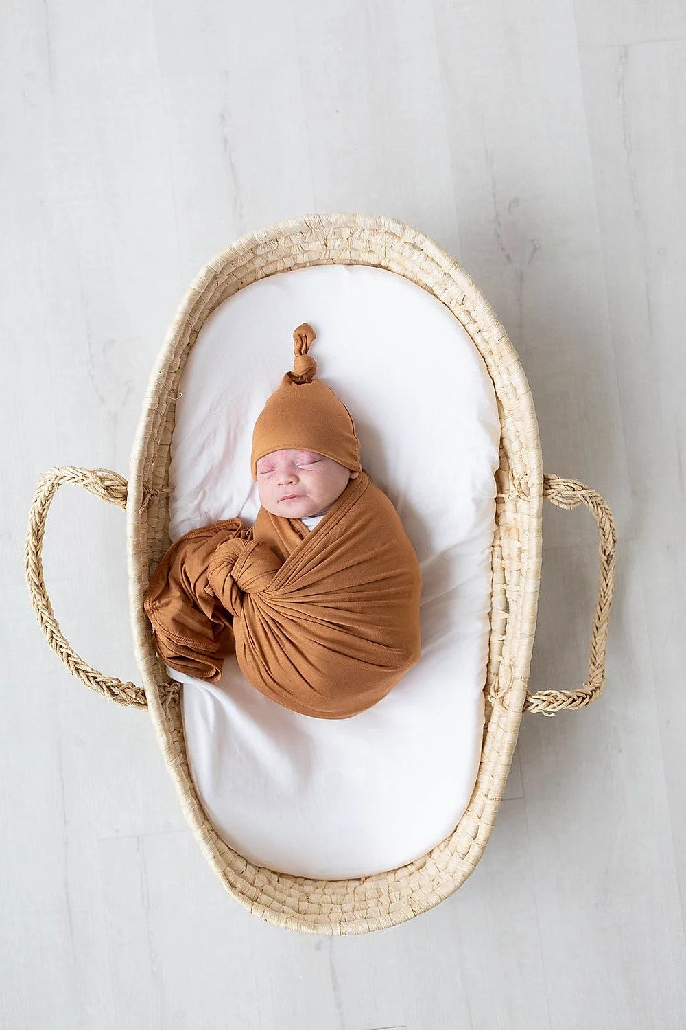 Camel Swaddle Blanket and Adjustable Hat