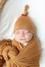 Load image into Gallery viewer, Camel Swaddle Blanket and Adjustable Hat