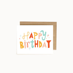 Alisa Wismer Colorful Happy Birthday Greeting Card