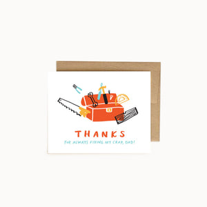 "Alisa Wismer ""Thanks to For Always Fixing My Crap, Dad!"" Father's Day Greeting Card"