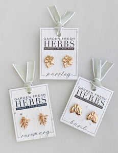 Single Herb Earrings