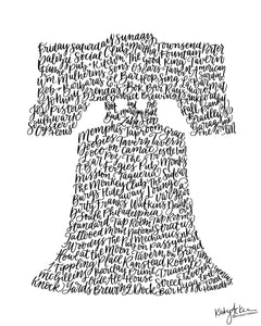 Liberty Bell - Philly Bars Print