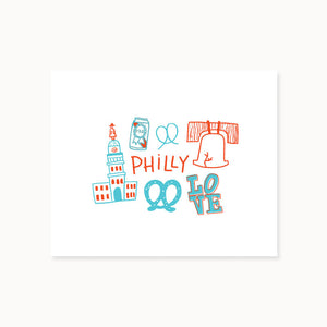 Alisa Wismer All Things Philly Doodle Print