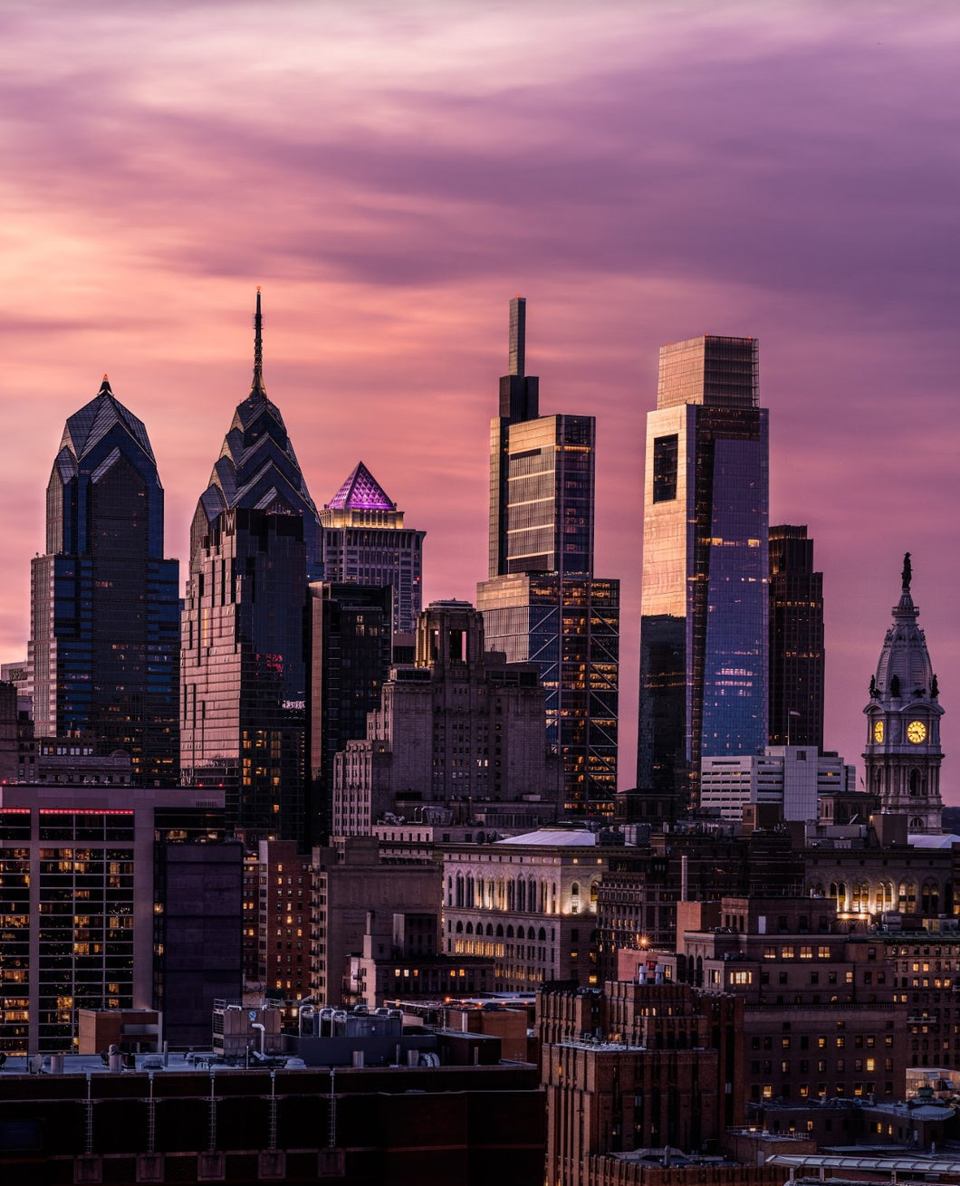 Beautiful shot of the Philly skyline by Philadelphia local photographer, Trevor Adams.