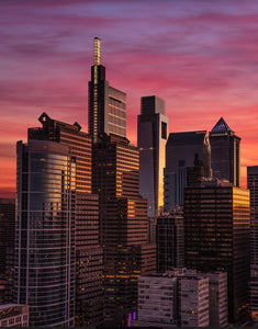 Philadelphia Skyline Photo at sunset