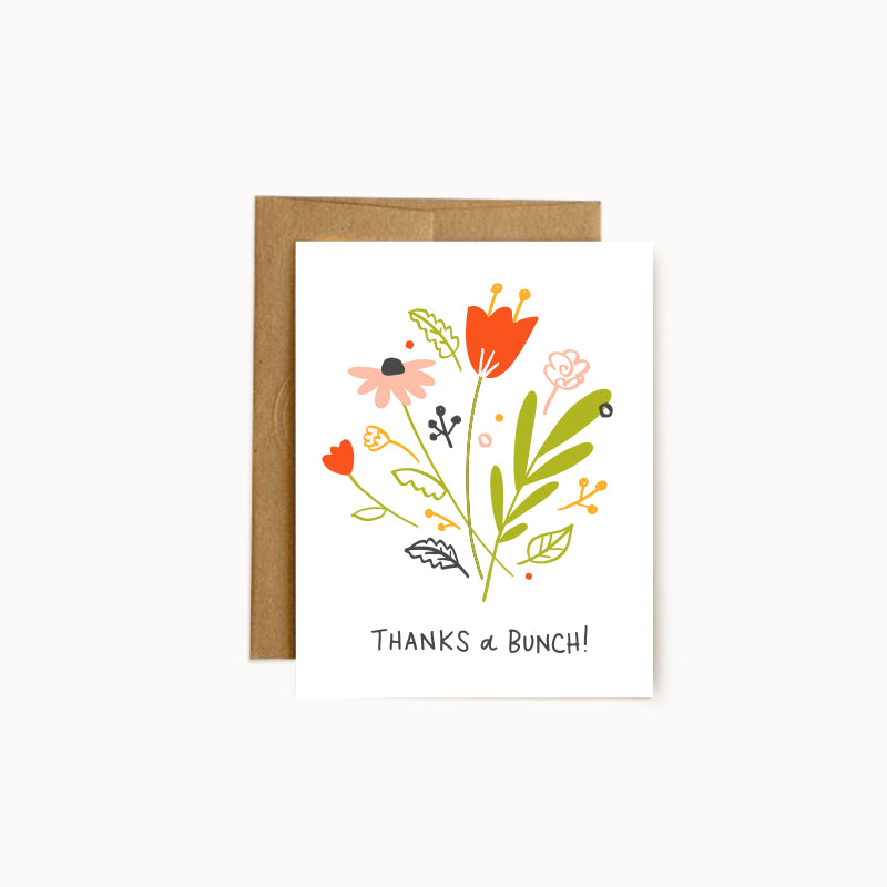 Alisa Wismer Thanks a Bunch Floral Thank You Greeting Card