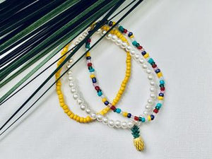 """Life's A Beach"" Anklet Set"