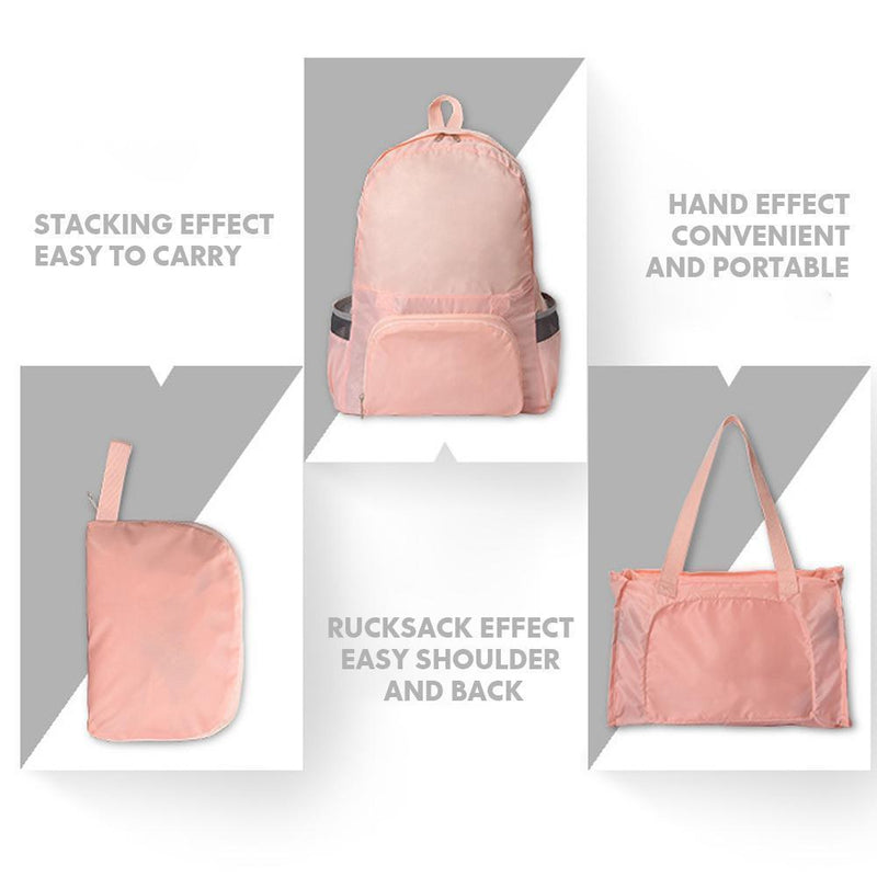 Foldable dual-use backpack for traveling