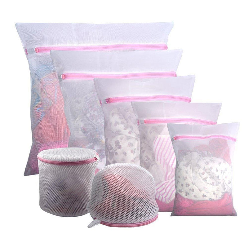 Wash Bags Set of 7 Mesh Lingerie Laundry Bags with Zipper