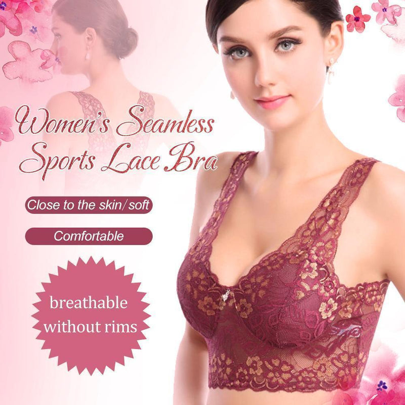 Women's Seamless Lace Bra
