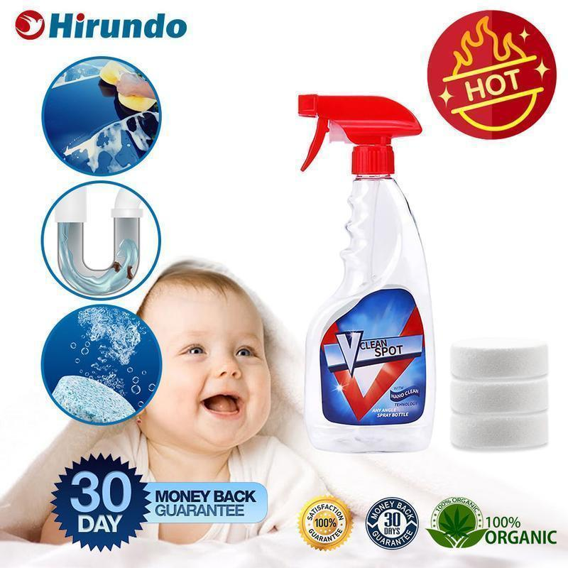 Hirundo Multifunctional Effervescent Spray Cleaner, 1 Set