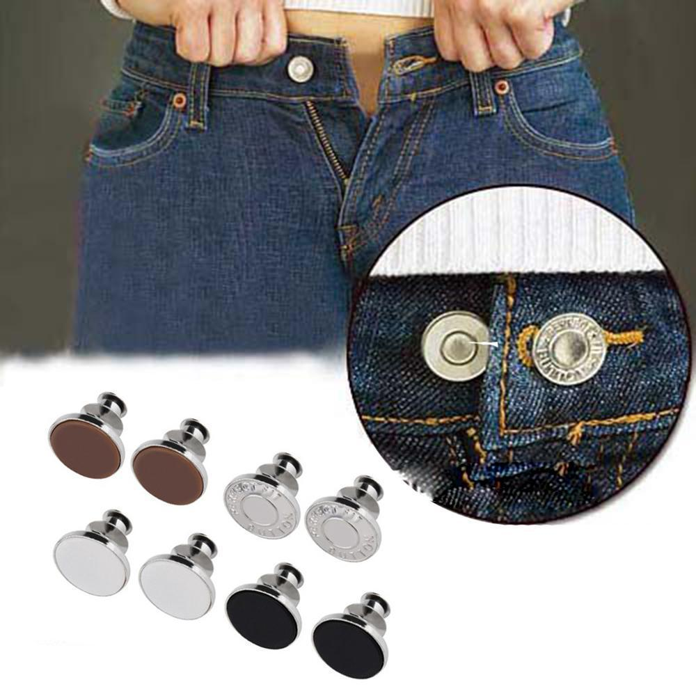 8 Trouser Button Replacement Set Removable Reusable Jeans Skirt Extender Easy