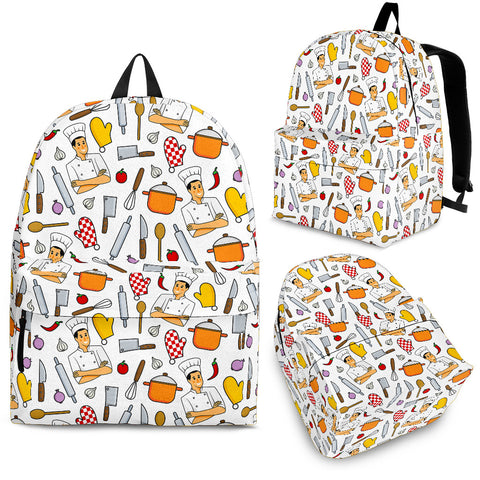 Men's Chef Backpack - White Character