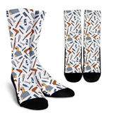Men's Hairdresser Socks - White Character