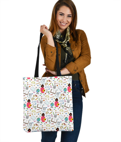 Women's Teacher Tote - Black Character