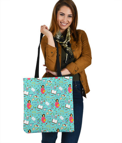 Women's Teacher Tote - White Character