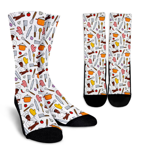 Men's Chef Socks - Black Character
