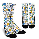Men's Vet Socks - Black Character