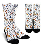 Women's Hairdresser Socks - Brown Character