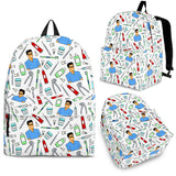 Men's Dental Backpack - White Character