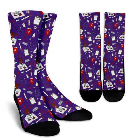 Men's Medic Socks - Black Character