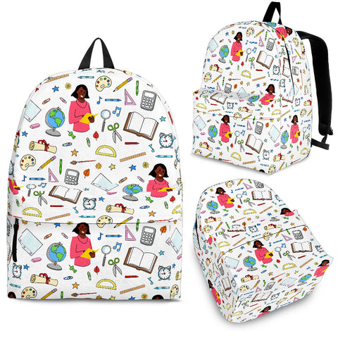 Women's Teacher Backpack - Black Character