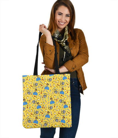Women's Scrubs Tote - Brown Character