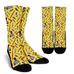 Men's Hairdresser Socks - Black Character