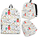 Women's Teacher Backpack - White Character