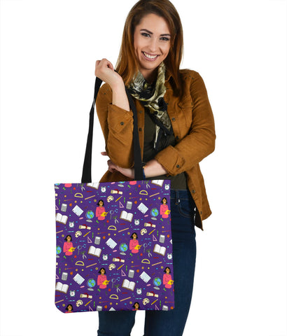 Women's Teacher Tote - Brown Character