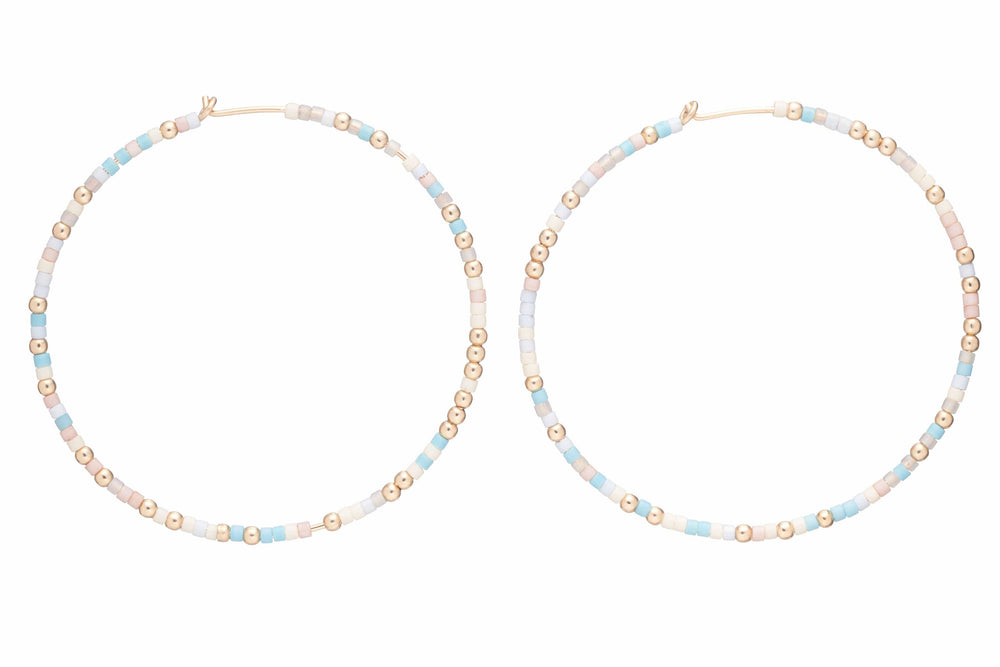 Cotton Candy enewton Hoops