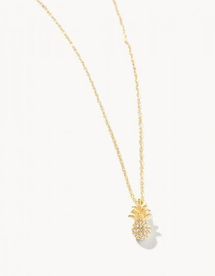 Sparkly Pineapple Necklace at It's So Wright